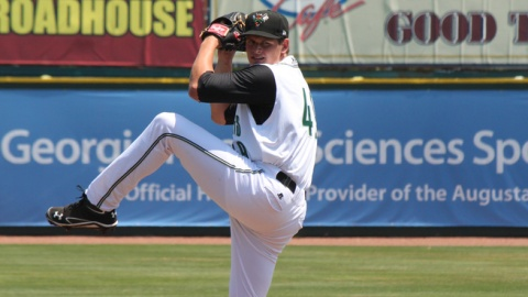 Kyle Crick is ninth in the South Atlantic League with 73 strikeouts.