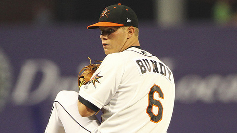 Dylan Bundy has compiled a 3.42 ERA in five starts for Frederick.