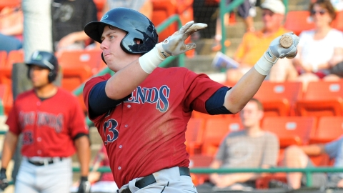 Third baseman Matt Duffy has been plunked 46 times in 174 Minor League games.